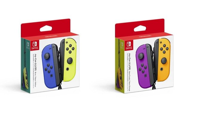 Two New Joy Con Colors and Better Switch Battery Life